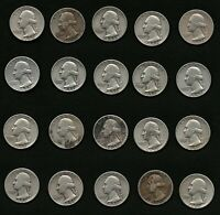 Lot of 20 Washington Silver Quarters Coins Years: 1951, 1952 FREE Shipping