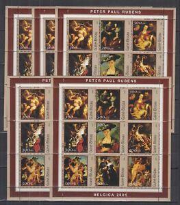W469. 5x Guinea-Bissau - MNH - Art - Paintings - Rubens