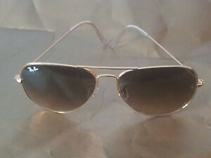 Ray Ban RB3026 62MM Aviator Unisex Sunglasses Gold Frame/ Brown Gradient Lens