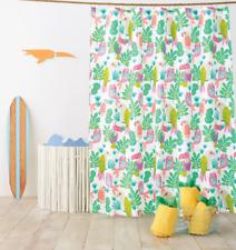 """Parakeet Paradise Shower Curtain Bright Fern Pillowfort Tropical Bird 72"""" x 72"""""""
