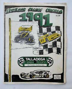 1991 Talladega Short Track Racing Souvenir Program - Has Damage -