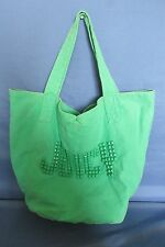 Juicy Couture Large Green w/ Pyramid Stud Letters Purse Tote Handbag Big Bag