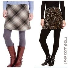 Marks and Spencer Woolen Check A-line Skirts for Women