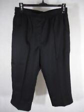 Kim Rogers Women's Casual Pull On Capri - Size 10 Petite Average - Black