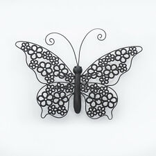 Large Shabby Chic Metal Butterfly Wall Art Plaque Sculpture New Indoor / Outdoor