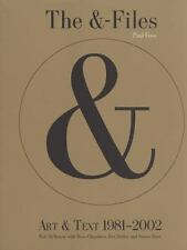 The &-Files: Art & Text 1981-2002: By Butler, Rex, Chambers, Ross, Fo...
