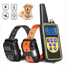 Dog Shock Training Collar Rechargeable Remote Control Ip67 875 Yards Waterproof