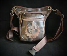 Leather leg holster bag, Brotherhood of Steel emblem, Fallout. unisex bag purse
