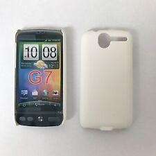 Per HTC Desire Bravo G7 A8181 Plain Bianco Custodia Cover Protettore Arancione UK