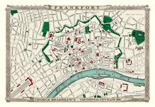 George Bradshaw'S CONTINENTAL Città Piano di Francoforte 1896 - 1000 Pezzo Puzzle
