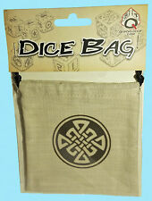 CELTIC DICE BAG LINEN Q-Workshop NEW Beige Drawstring Storage Pouch RPG Game