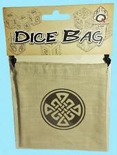 CELTIC DICE BAG LINEN Q-Workshop NEW Beige Drawstring Storage Pouch RPG Game