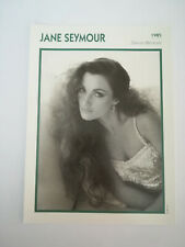 Jane Seymour - Fiche cinéma - Portraits de stars 13 cm x 18 cm