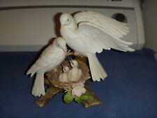 Homco Home Interior Porcelain Natures Promise 1996 Doves