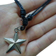 Star Pendant Chain Necklace Choker Mens Ladies Childrens Jewellery Silver Tone