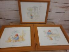 Paddington Bear ART , 3 Framed Pictures By Barry Macey