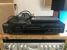 Sony Minidisc Hifi Deck + Remote - MDS-JE520