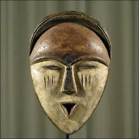59690) Afrikanische Tsogo Holz Maske Gabun Afrika KUNST