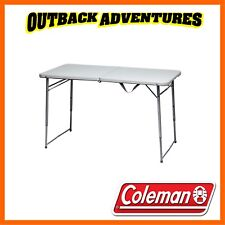 COLEMAN DELUXE UTILITY TABLE - CAMPING BEACH BI-FOLD PORTABLE - CARRY HANDLE