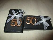 Rings, Chain, Number 50 Rhinestones 50Th Anniversary Celebration Favors Gold Key