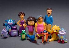 12PCS Dora the Explorer Let's Go Adventure Action Figures Toy PVC Kids Toys Gift