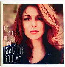 """ISABELLE BOULAY - CD SINGLE PROMO """"FIN OCTOBRE DÉBUT NOVEMBRE"""""""