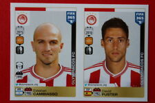 PANINI STICKERS FIFA 365 2016 n. 543 - 544 OLYMPIACOS TOP MINT!