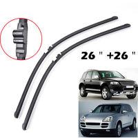 """For Porsche Cayenne VW Touareg 03-06 Windshield Wiper Blades Front Window 26""""26"""""""