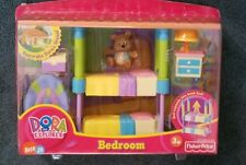 FISHER PRICE DORA THE EXPLORER BEDROOM TWIN BUNK BEDS DOLLHOUSE FURNITURE  SET