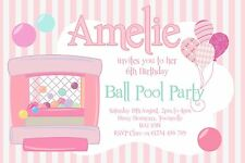 INVITATIONS 10 - BIRTHDAY PARTY, BALL POOL, SOFT PLAY, PLAY CENTRE, PERSONALISED