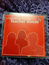 CSV Education For Citizenship: Teachers Voices on CD