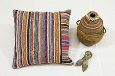 Handmade Cushion Cover 18x18 Inch. Authentic Turkish Pillow Case Ethnic Decor