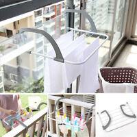 Multi-use Folding Drying Racks Shelf Balcony Adjustable Clothes Drying Hanger AU