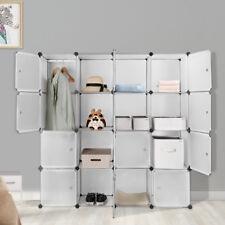 16-cube storage cube closet organizer shelf cabinet bookcase, shoe rack plastics