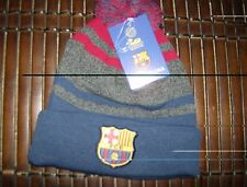 Licensed FC Barcelona Pom Beanie with gray