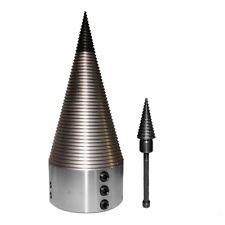 150mm Drillkegel Holzspalter Kegelspalter 90mm Aufnahme Spitze wechselbar