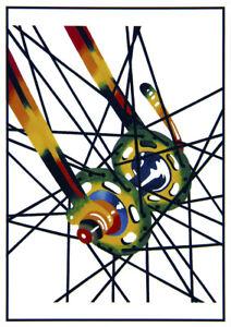 "John D Wibberley Cycle Art - Original ""Spokes"" Post Card 4.5"" x 6"""
