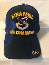 Us Air Force Military Ball Cap Strategic Air Command Hat (Bin 12) Sac