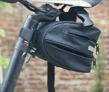 Cycling Bicycle Bike Saddle Outdoor Pouch Seat Bag Frame Black AB