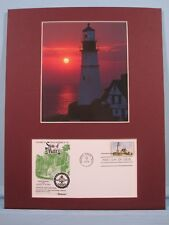 Two Lights Lighthouse of Portland, ME & First Day Cover