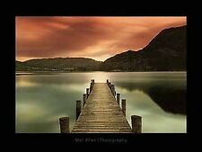 ULLSWATER ART PRINT BY MEL ALLEN 35.5x47.25 dock in English Lake giant poster
