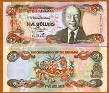 Bahamas, 5 dollars, 2001, P-63 (63b), UNC