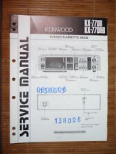 MANUAL DE SERVICIO Kenwood kx-770 CASSETTE tapa, original