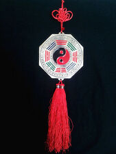 "Feng Shui Bagua Pa Kua Palgoae Tassel with Mirror Amulet (14"") Hanging Charm"