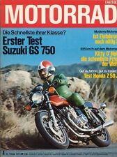 M7704 + Test SUZUKI GS 750 + Test HONDA Z 50 J + MOTORRAD 4/1977