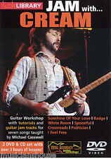 LICK LIBRARY Learn To Play JAM WITH CREAM I Feel Free Badge Lesson GUITAR DVD