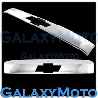 07-12 Chevy Suburban Chrome Top tailgate Liftgate Molding+Logo hole Handle Cover