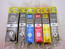 6pK PGI220 CLI221 Ink Cartridge for Canon Pixma iP4680 MP990 MP980 MX870 MX860
