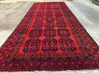 Hand Knotted Vintage Felpah Bokhara Turkmon Wool Area Runner 13.5 x 5.5 Ft