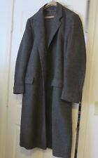 Princeton Mens Gray Wool Tweed Single Full 3/4 Coat Overcoat Lined 44/46R Long
